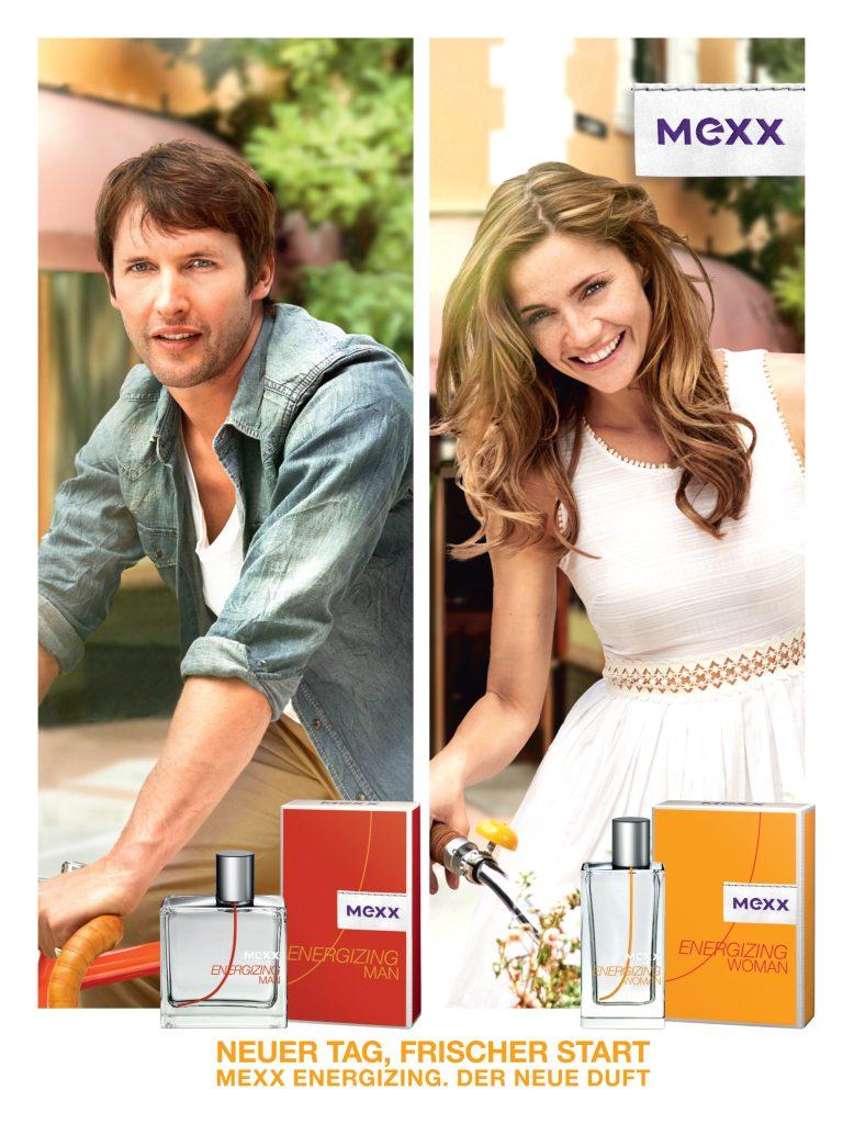 Mexx Energizing: James Blunt und Model Maria Gregersen präsentieren neuen Duft