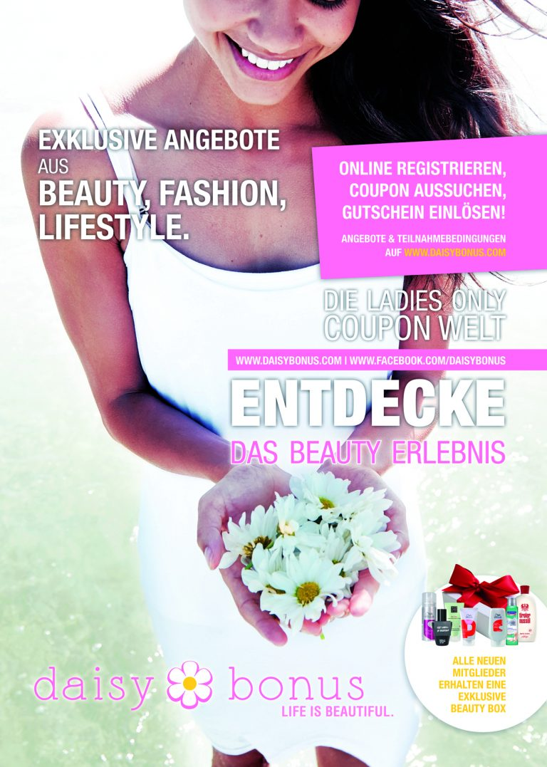 Daisy Bonus – Die neue Ladies Only Coupon Website