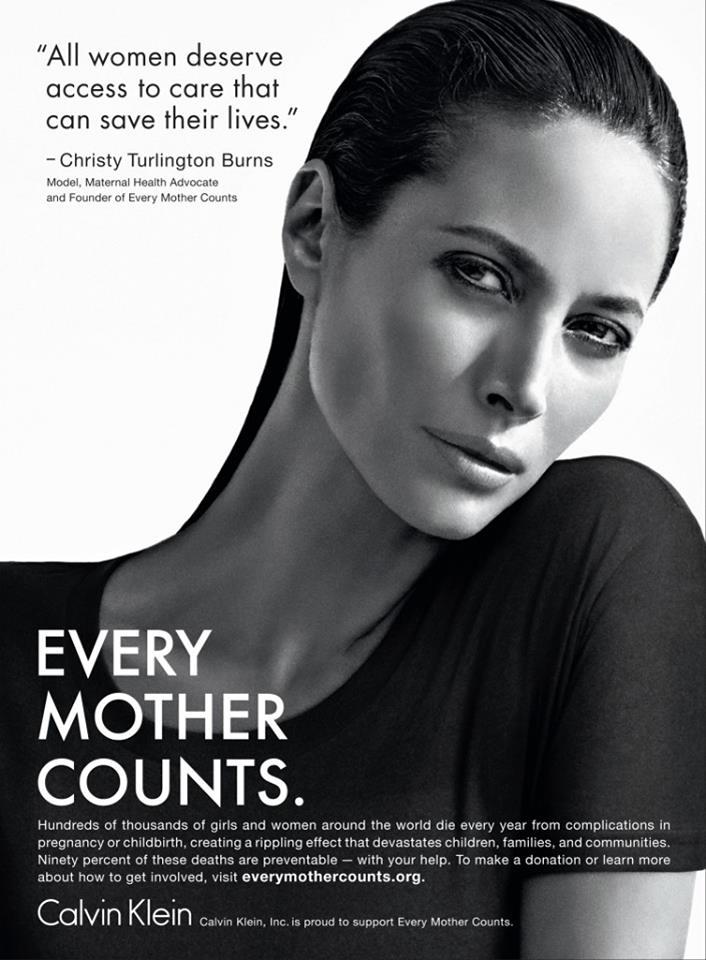 Calvin Klein: Kooperation mit Charity-Projekt von Christy Turlington