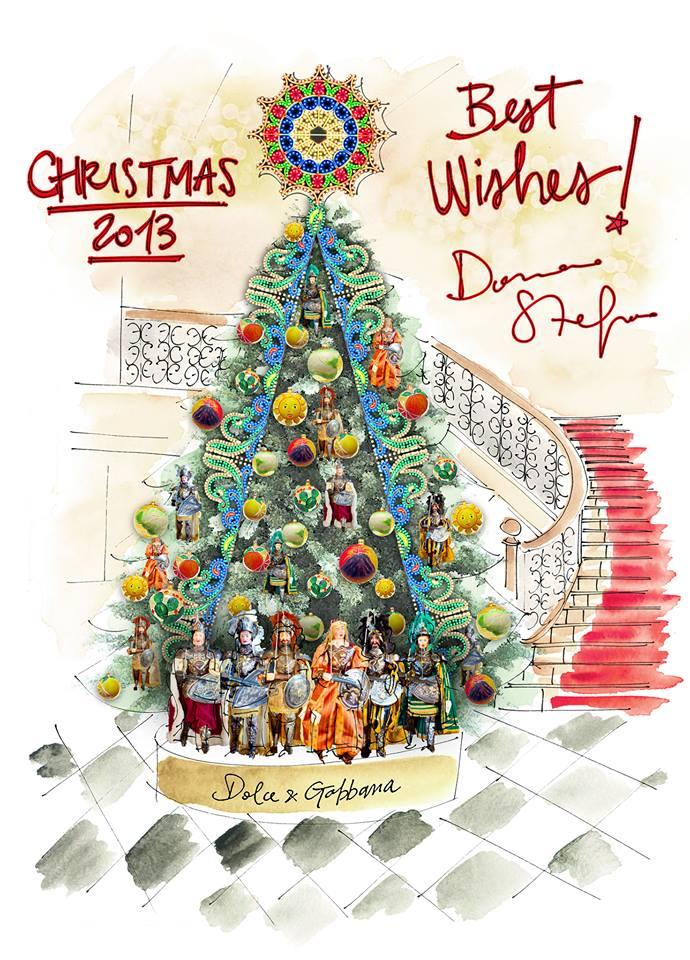 Dolce & Gabbana dekorieren Weihnachtsbaum in Londoner Luxushotel
