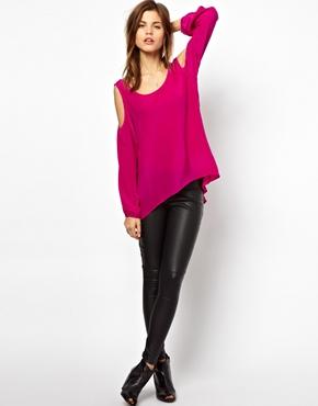 Asos - Pinke Bluse aus Polyester