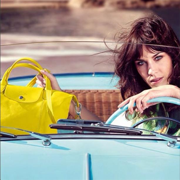 Neues Werbegesicht: Alexa Chung für Longchamp