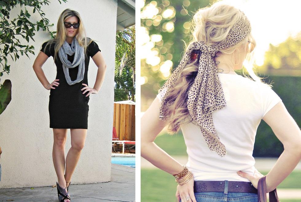 Tücher sind das Trend-Musthave des Sommers. Egal ob zum eleganten Kleid oder als Haarband, sie passen einfach immer. Foto: Flickr / ...love Maegan