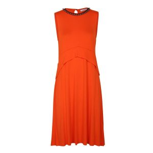 orange kleid