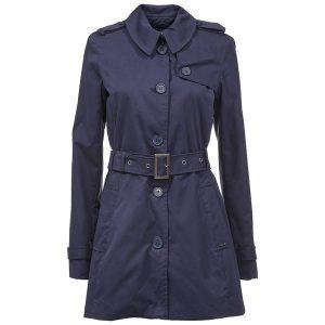 blau trenchcoat