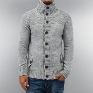 grau strickjacke