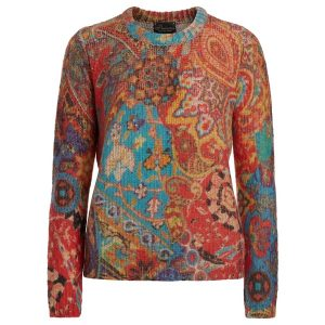 paisley muster pullover