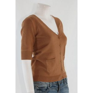 strickjacke cognac