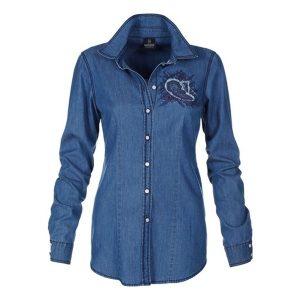 jeanshemd dunkelblau