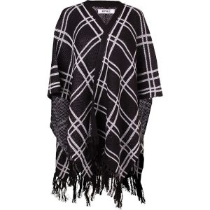 poncho grafisches muster