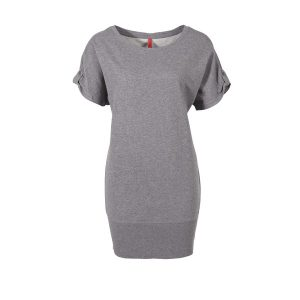 tshirt kleid grau