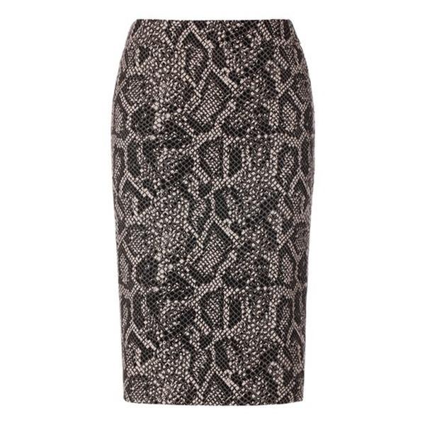 Madeleine Mode Bleistiftrock Schlangenprint