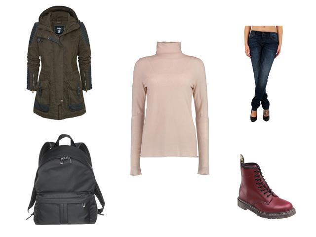 Rollkragenpullover-Style-Outfit
