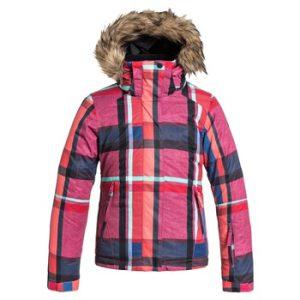 Skijacke-Karo-Pink