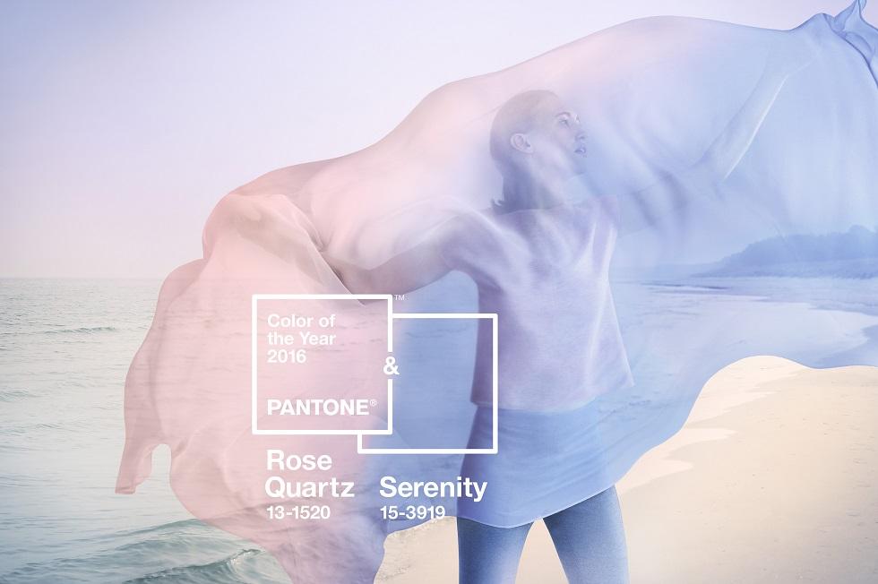 Farben des Jahres 2016: Serenity & Rose Quartz Foto: Pantone