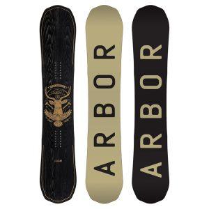 snowboard schwarz arbor