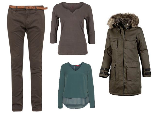 Trendfarbe Olive Outfit