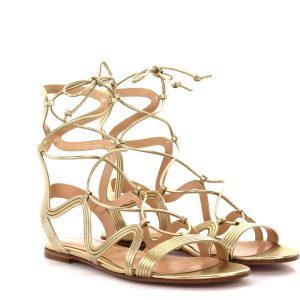 sandalen gold gianvitorossi