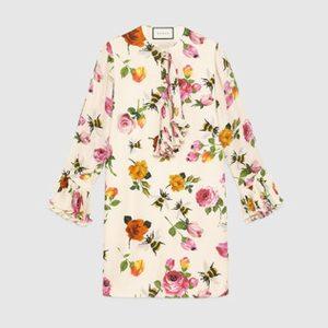 Gucci Seidenkleid Blumen