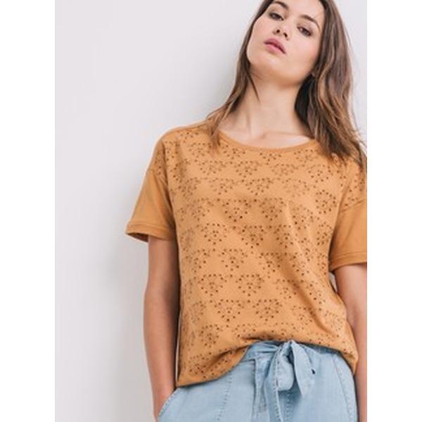 Promod T-Shirt mit Lochmuster