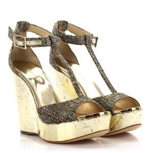Sandale Gold JimmyChoo