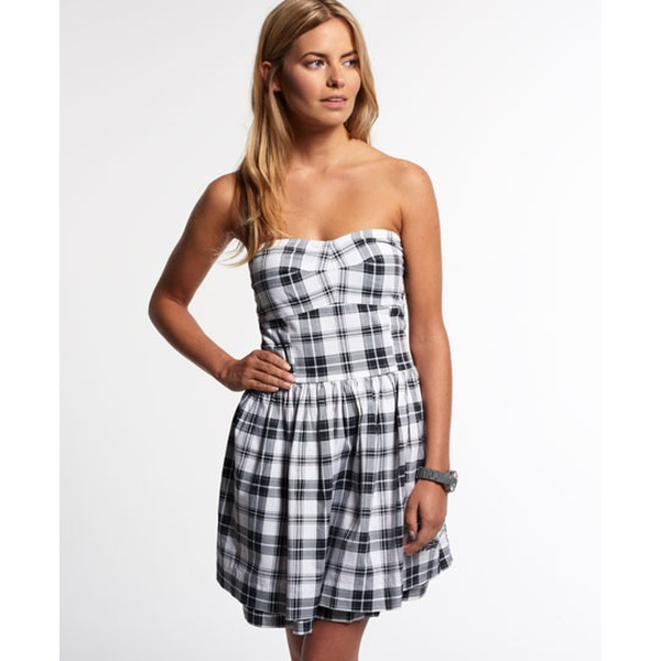 Superdry 50s Prom Plaid Kleid