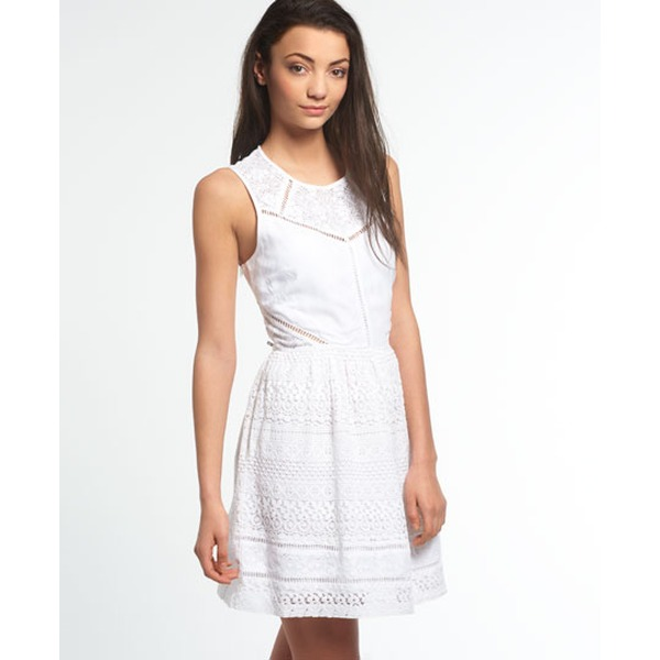 Superdry Lace Panel Skater Spitzenkleid