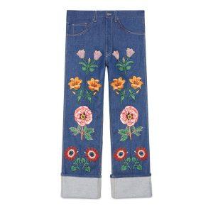 Jeans Blumen Gucci