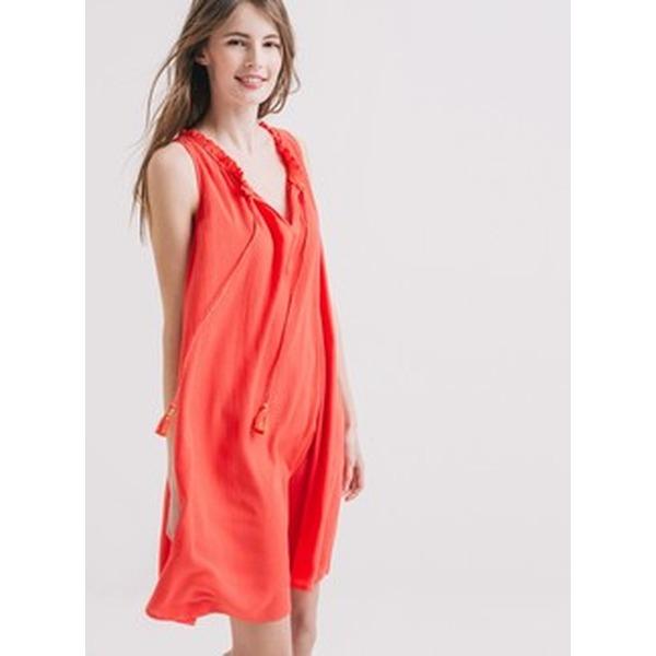 Promod Kleid aus Kreppstoff