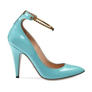 blau pumps gucci
