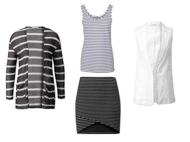 Streifen-Look Gestreift Streifen-Outfit