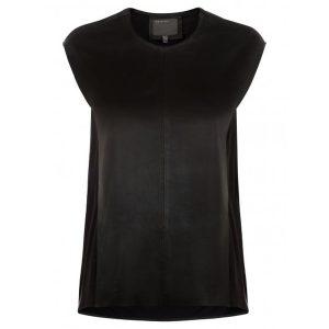 schwarz ledershirt muubaa
