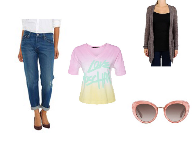 Brunch-Style Sommerstyle Used Look Jeans