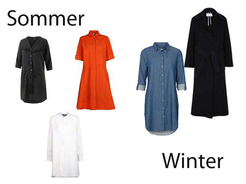 Hemdblusenkleider Hemdblusenkleid Winter