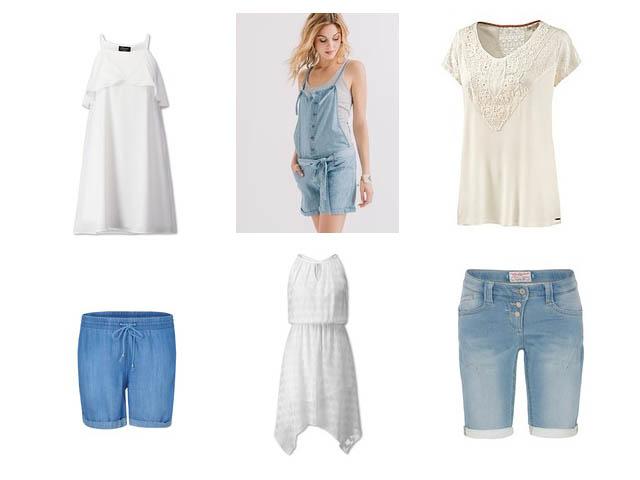 Sommerkleider Jeansshort Latzshose