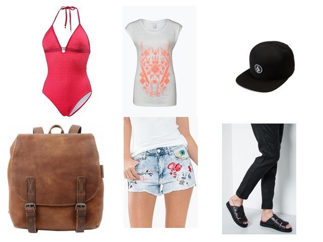 Strandstyle Beachoutfit Badeanzug-Look