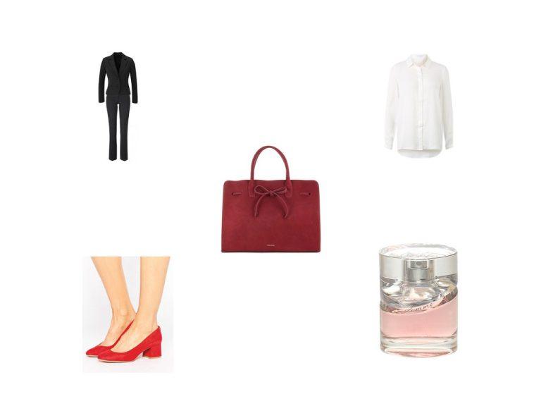 Kombinier mich: Rote Tasche