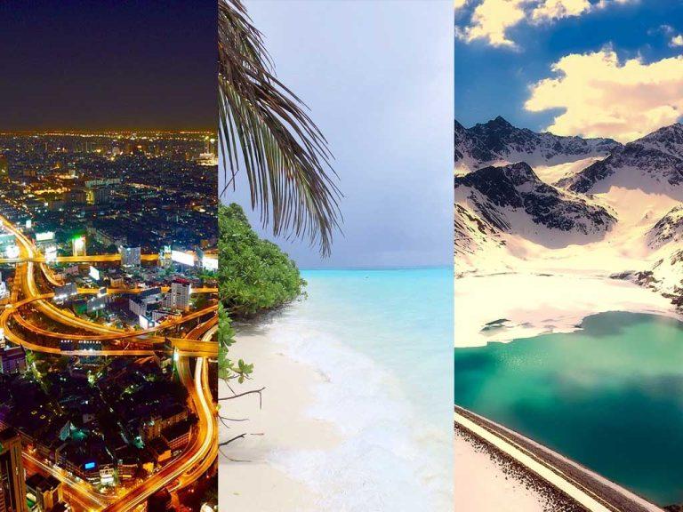 3 Reiseziele – 3 Styles