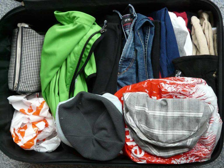 Den Koffer richtig packen