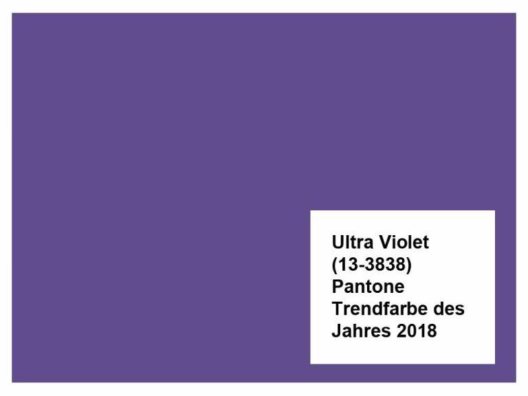 Ultra Violet – Pantone Trendfarbe des Jahres 2018