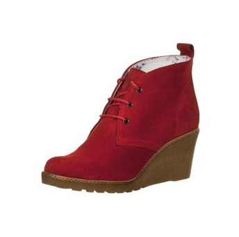 Stylischer Shoot Ankle Boot in Rot