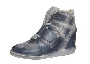 Sneaker-Wedge: Shoot Keilstiefelette silky antracite & taupe