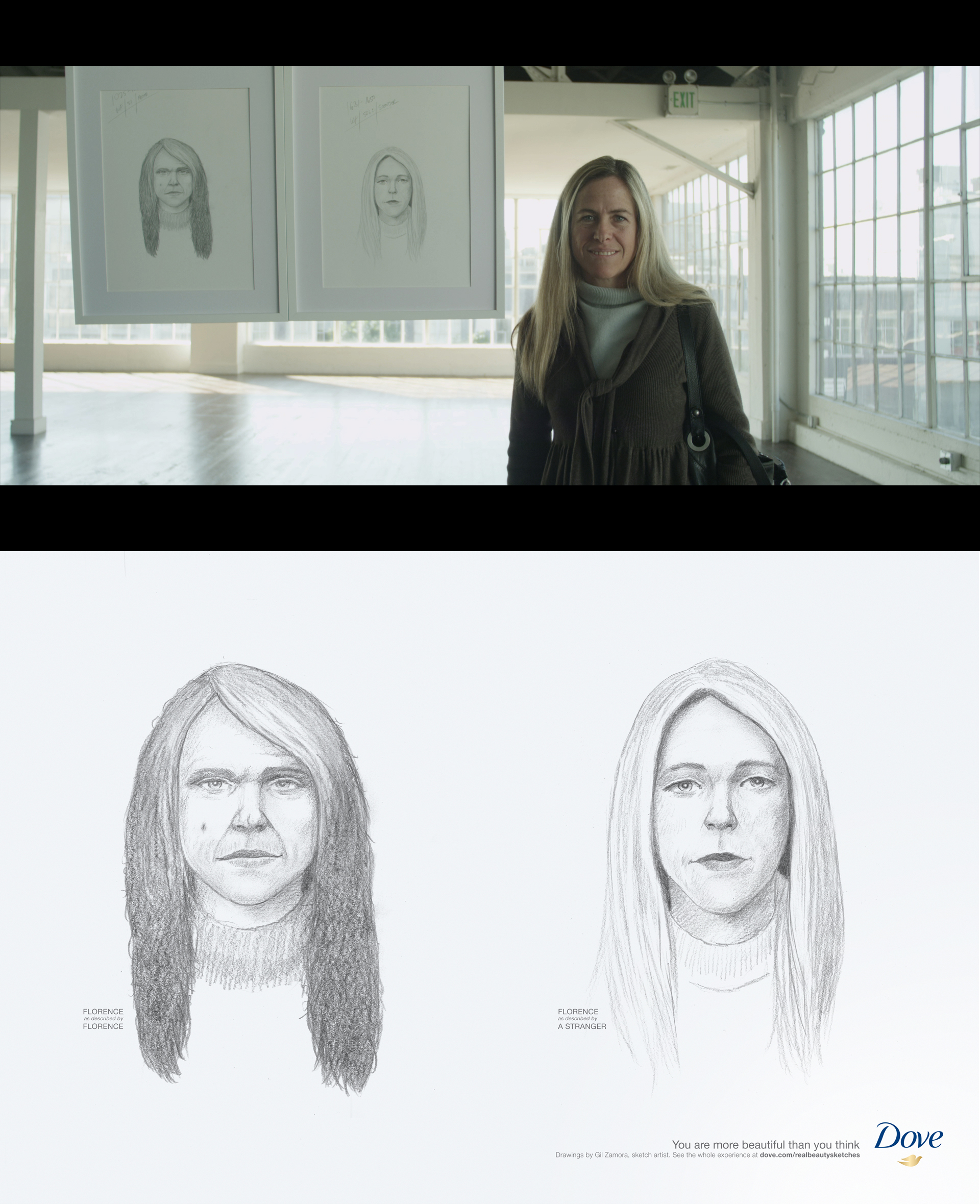 """Kampagne – Dove """"Real Beauty Sketches"""""""